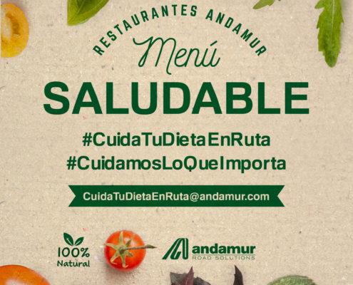 Andamur presenta un Menú Saludable en todos sus restaurantes dentro del plan de RSC #CuidamosLoQueImporta