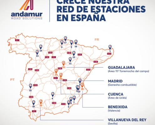 crece red estaciones asociadas andamur